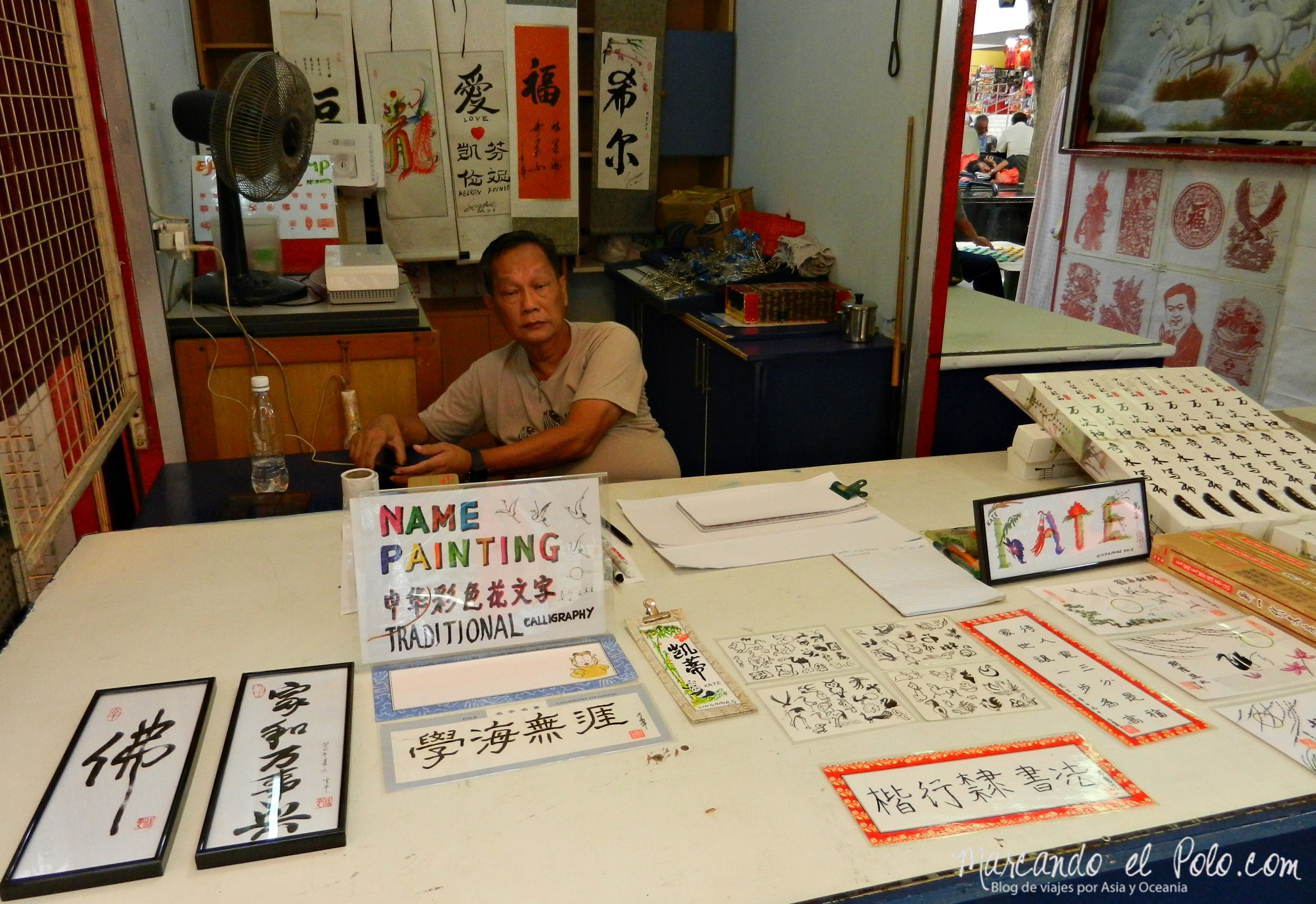 Chino en barrio chino, Singapur, Asia