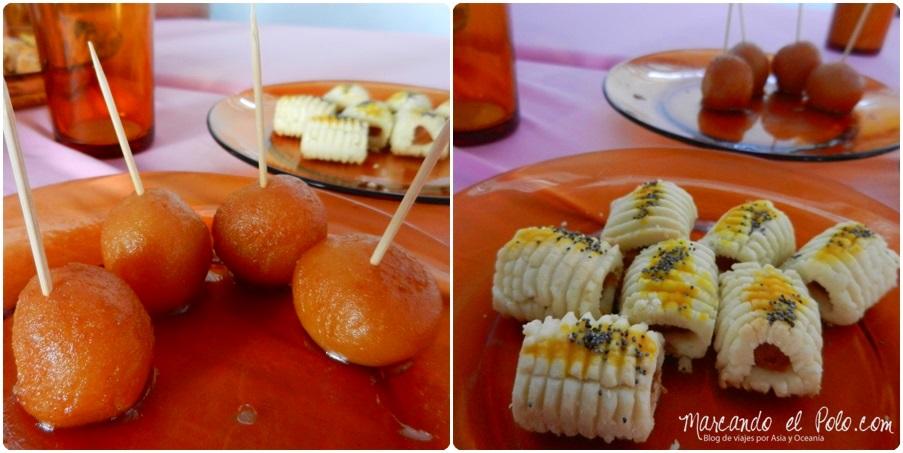 Desayuno en el casamiento Sikh, Penang, Malasia