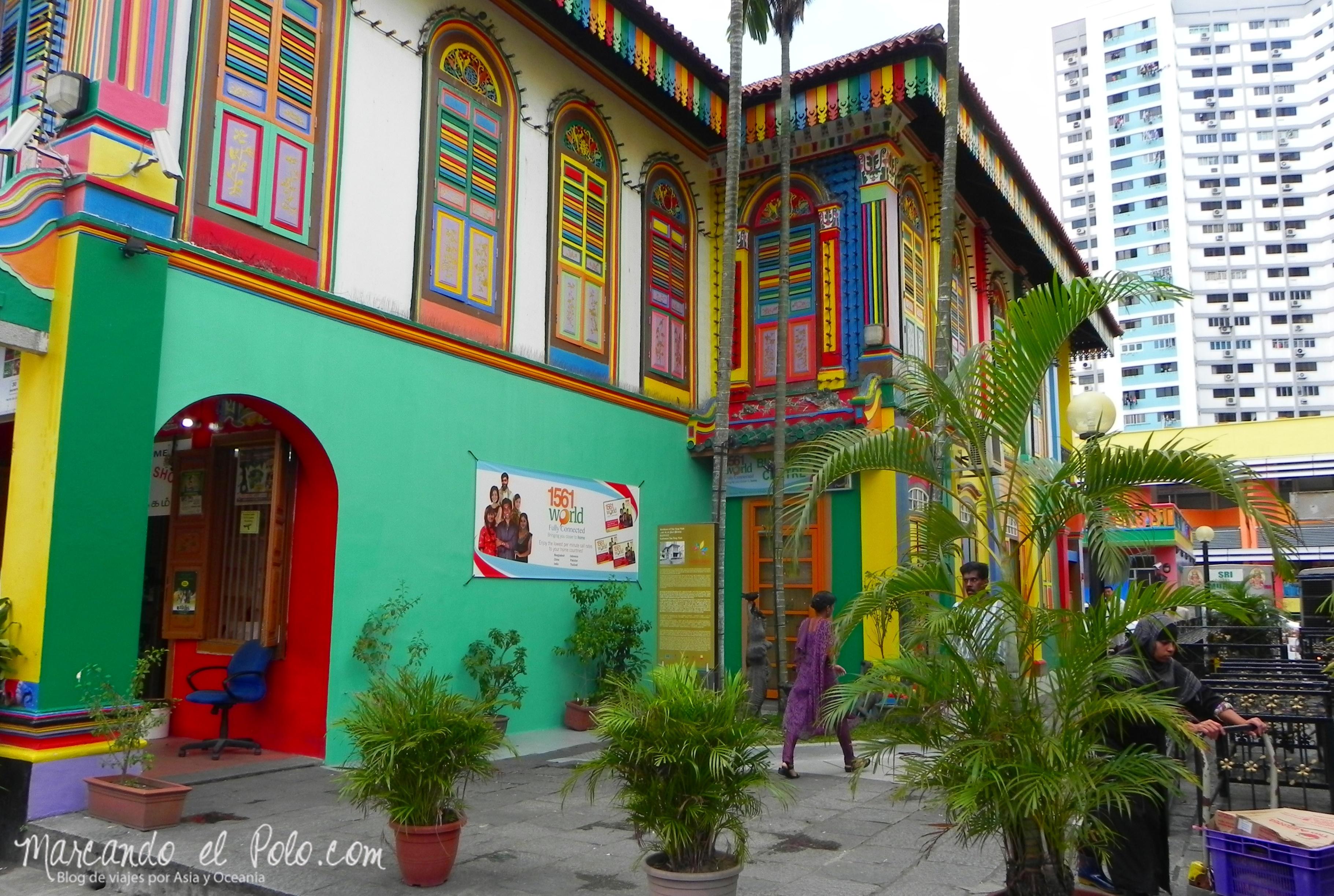 Las coloridas calles de Little India, Singapur.