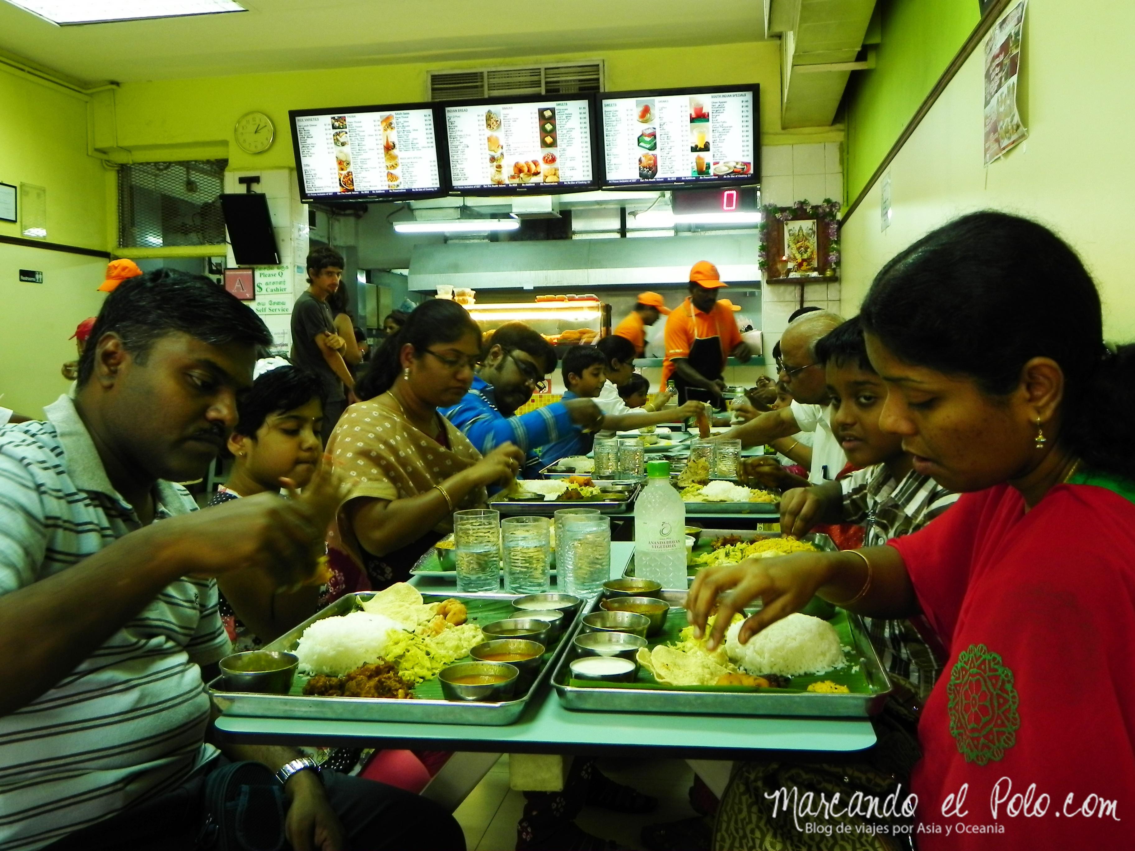 Restaurante indio, Singapur, Asia