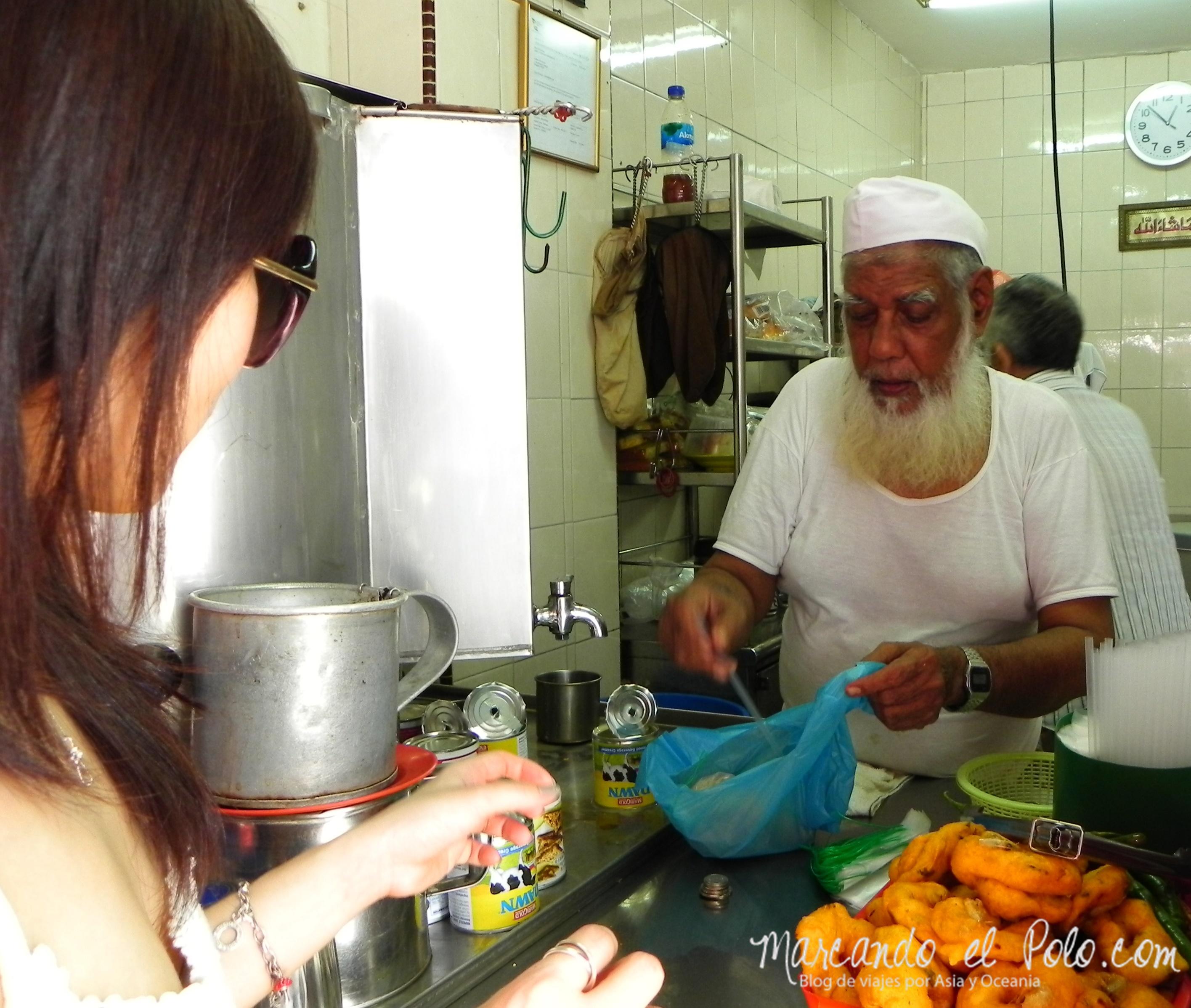 Vendedor de Teh Tarik, Kampong Glam.