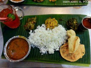 Presupuesto mochilero viajar a Malasia - Comida india