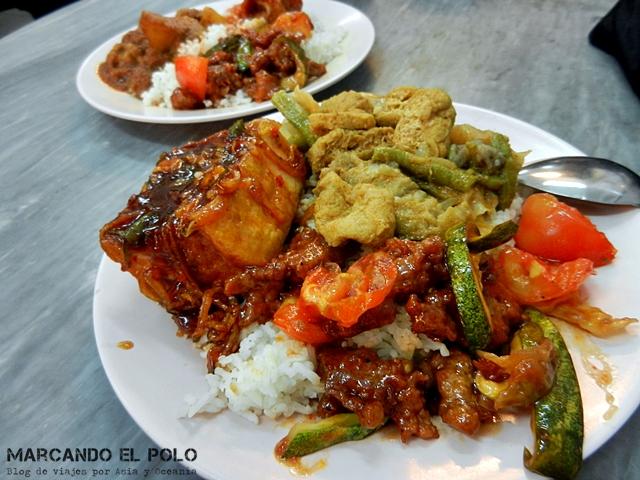 Presupuesto mochilero viajar a Malasia - Comida vegetariana