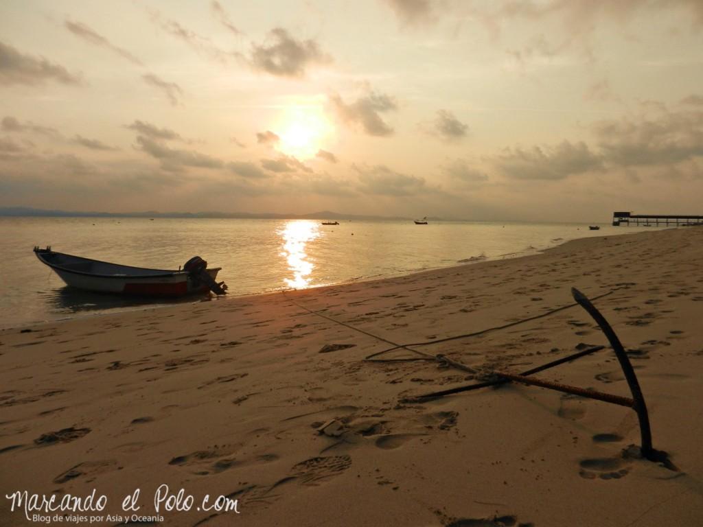 Itinerario viajar a Malasia: Atardecer en Kapas