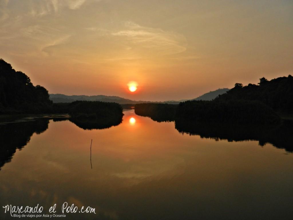 Itinerario viajar a Malasia: Atardecer en Lake Chini
