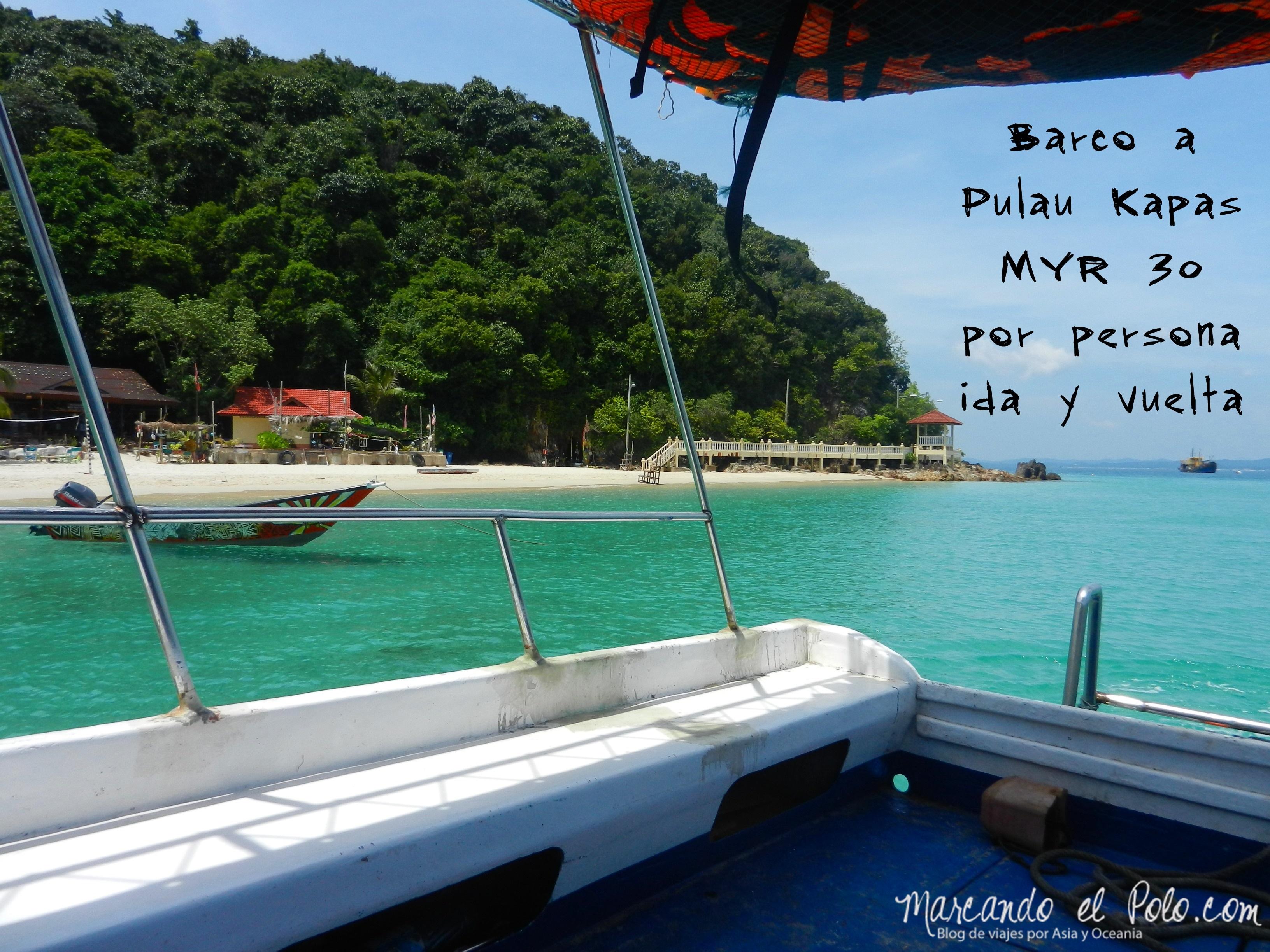 Barco a Pulau Kapas, Malasia