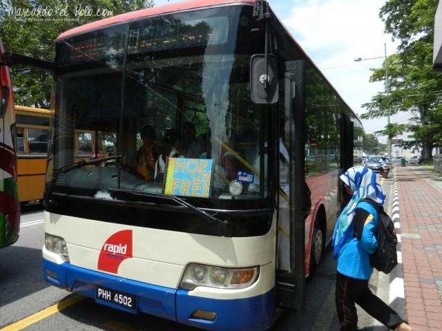 Presupuesto viajar a Malasia - Bus gratis Penang