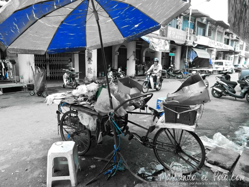 Itinerario viajar a Malasia: Calles de Penang