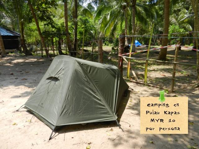 Presupuesto mochilero viajar a Malasia - Camping Pulau Kapas