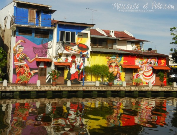 Itinerario viajar a Malasia: Murales en el rio Melaka
