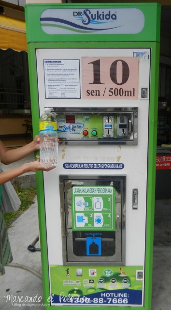 Presupuesto viajar a Malasia - Recarga de agua