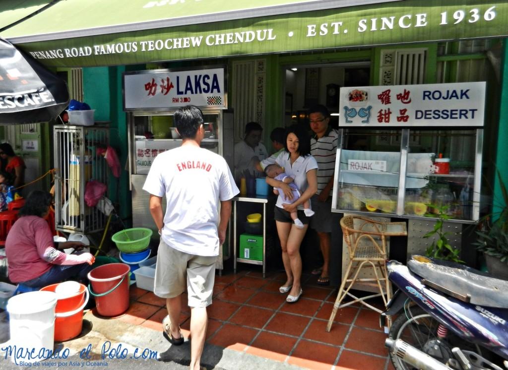 Itinerario viajar a Malasia: Teochew laksa & cendol, Penang