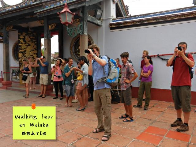Presupuesto viajar a Malasia - Walking tour gratis Melaka