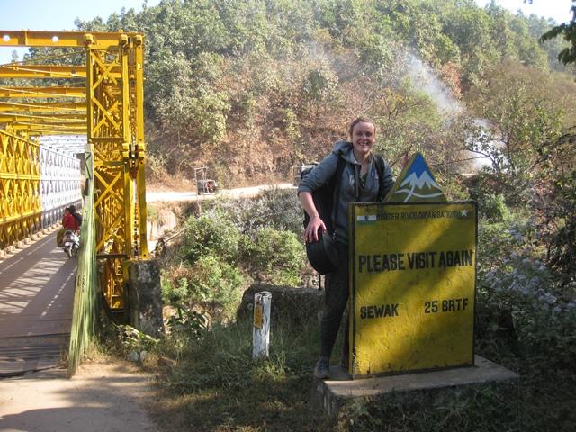 Myanmar a India por tierra: Iron bridge