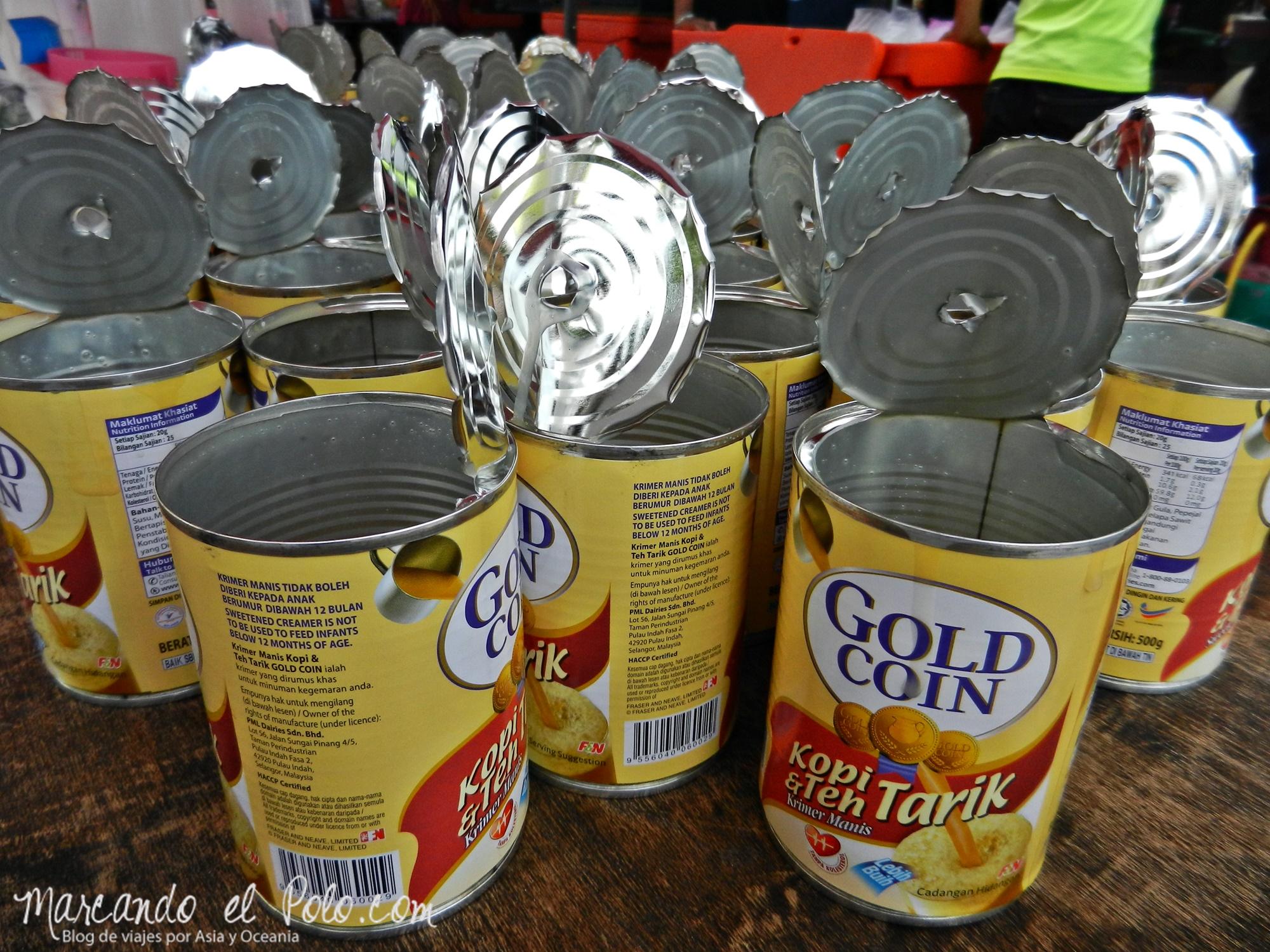 La leche condensada es esencial en la gastronomía malaya, Malasia