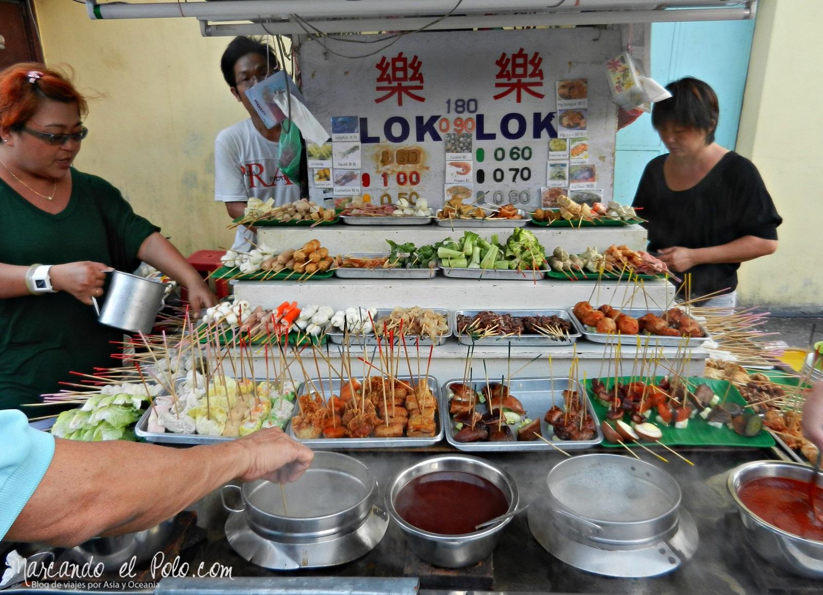 Lok Lok, comida en Malasia