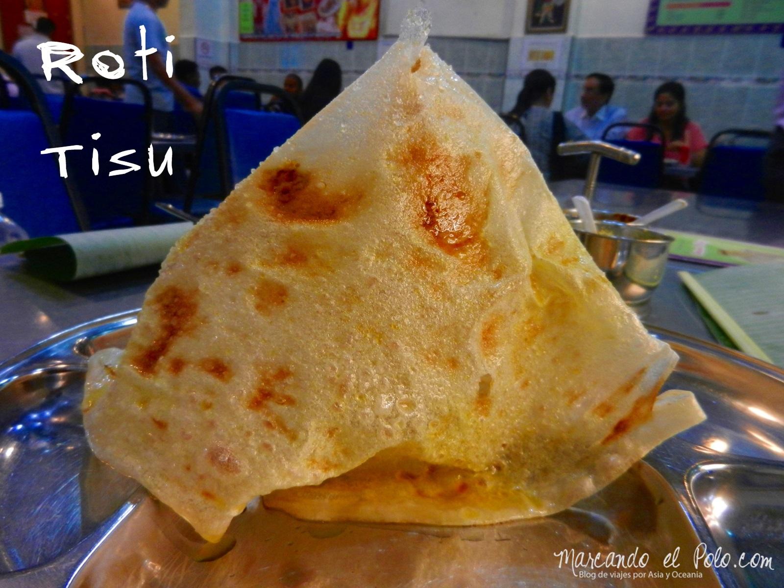 Roti Tisu, comida en Malasia