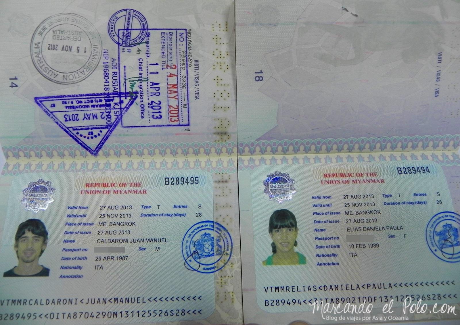 Visa para Viajar a Myanmar