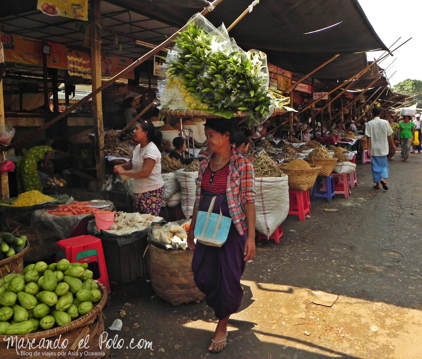 Cargando en la cabeza - Curiosidades de Myanmar
