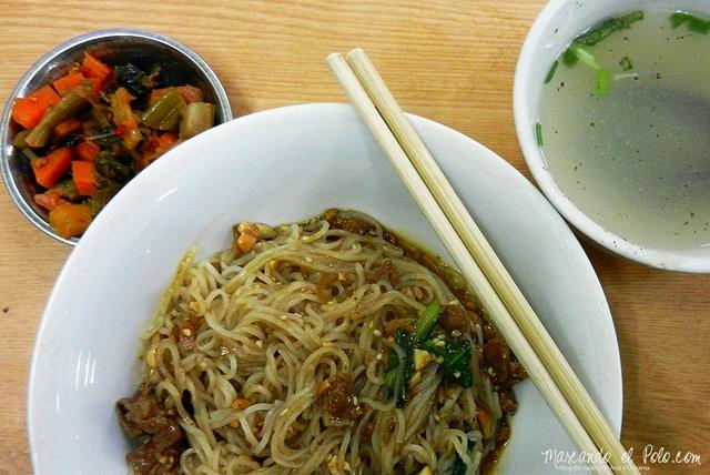 Viajar a Myanmar - shan noodles