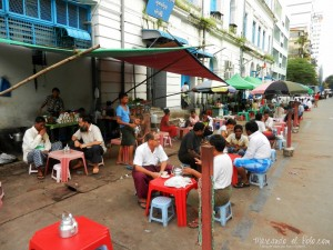 Itinerario para viajar a Myanmar: casa de té Yangón