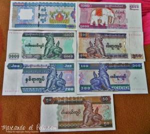 Kyat, moneda de Myanmar