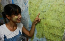 Tanaka y mapa - Curiosidades Myanmar