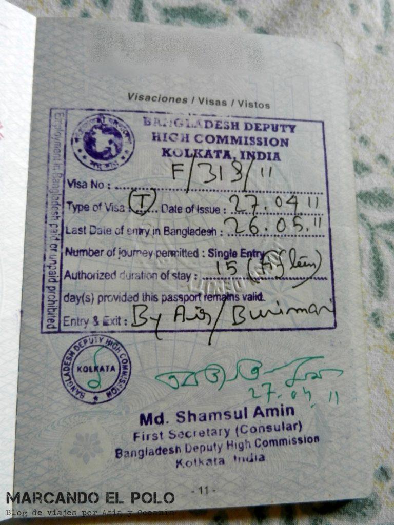 Visa para viajar a Bangladesh