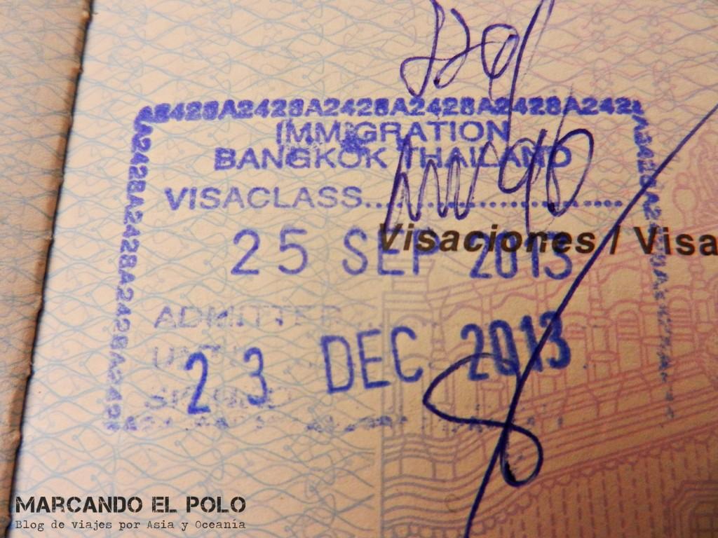 Visa para viajar a Tailandia
