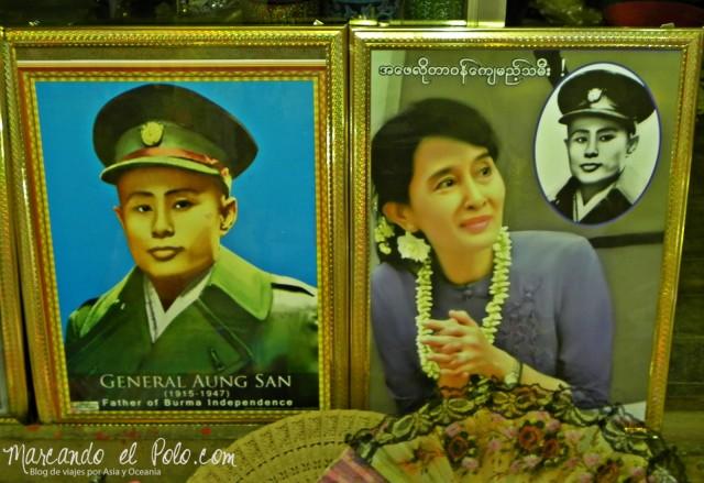 Viajar a Myanmar - Aung San Suu Kyi
