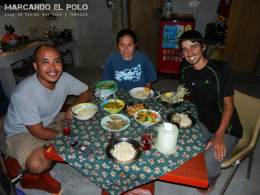 Con Pad y su esposa en el Sur de Tailandia :)
