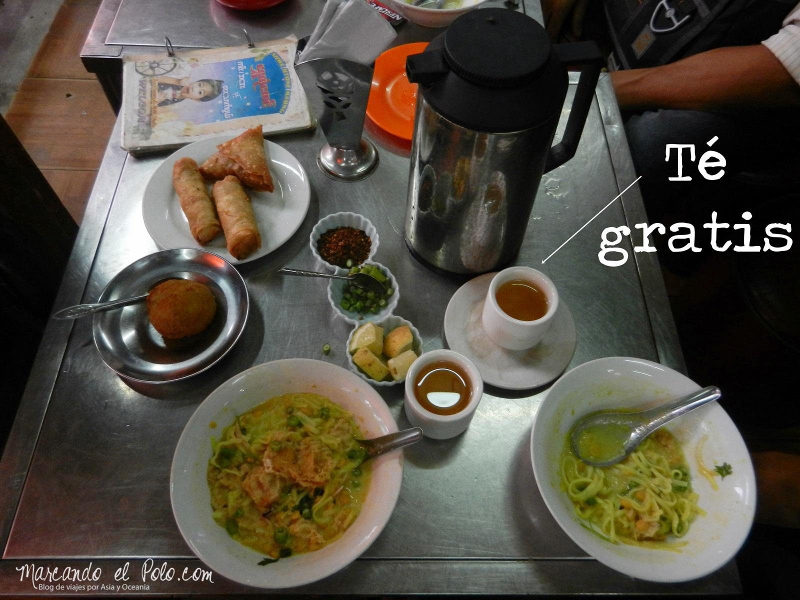 Presupuesto para viajar a Myanmar: casa de té