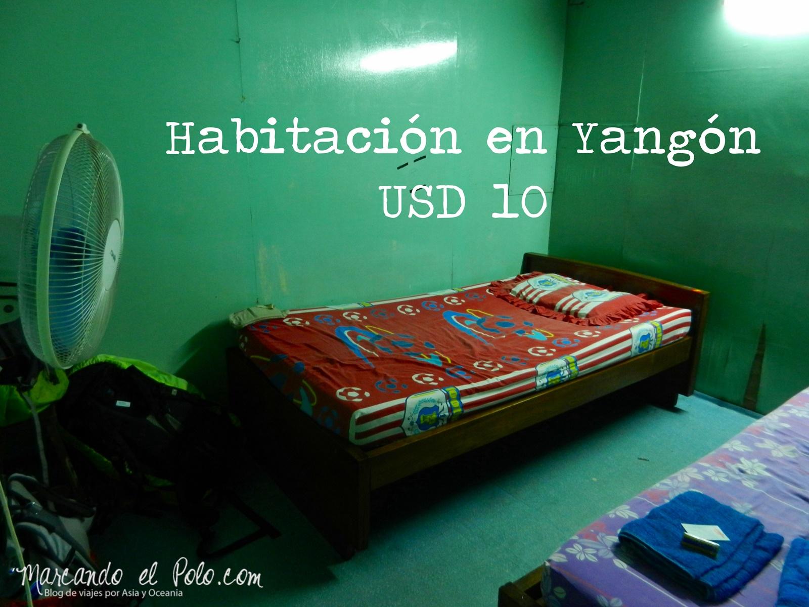 Presupuesto para viajar a Myanmar: Hotel Yangón