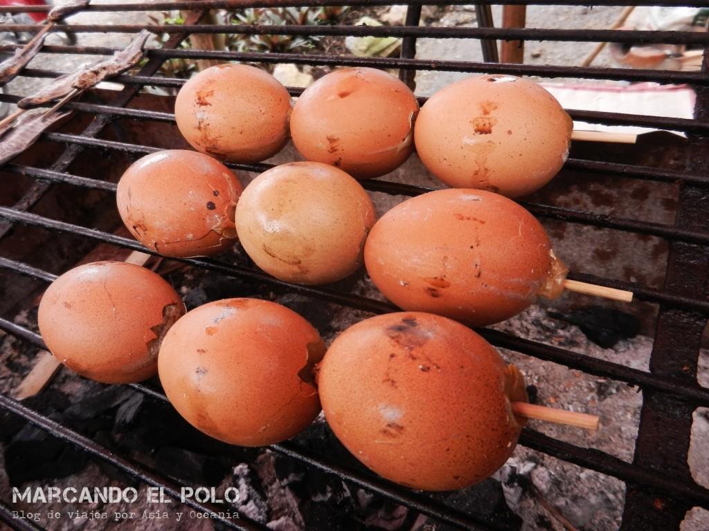 Huevos asados... ¡y en palito!
