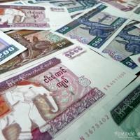 El kyat, la moneda birmana.