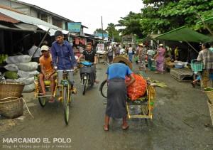 Itinerario para viajar a Myanmar: mercado de Pyay
