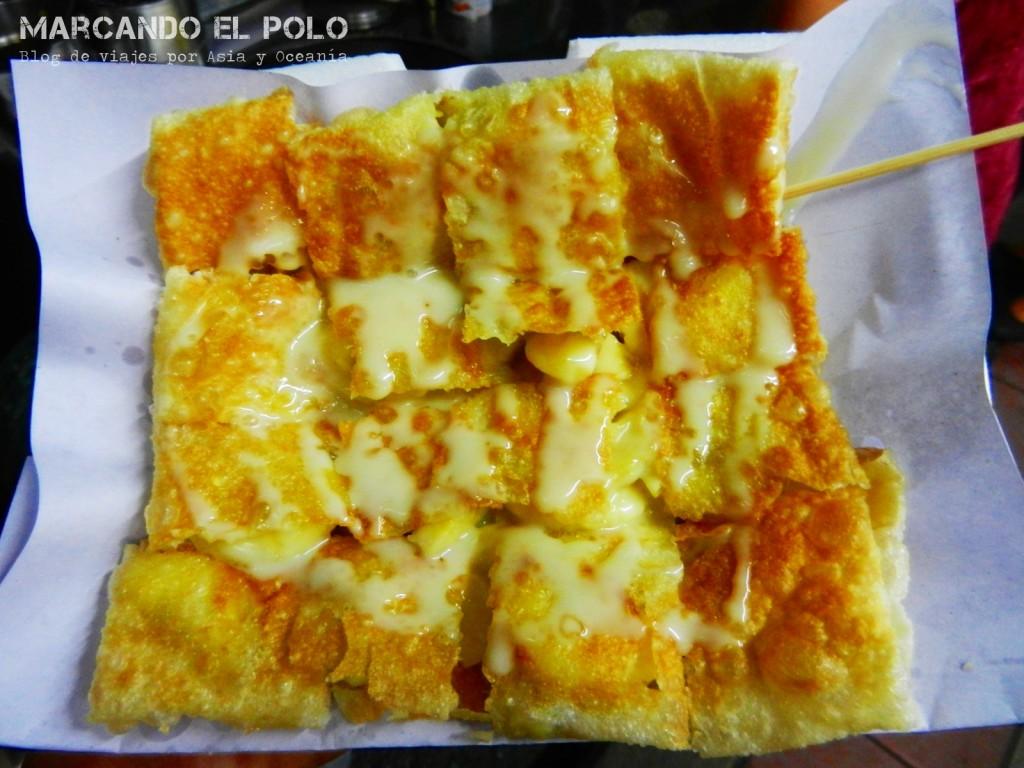 Panqueque de banana, comida tailandesa