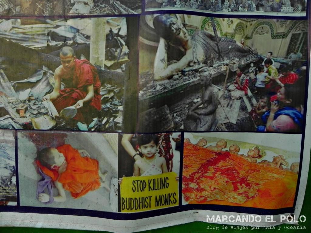 Las tristes imágenes de las protestas de los monjes en el 2007.