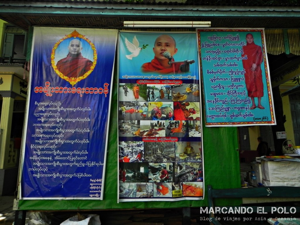 Protesta de monjes en Myanmar