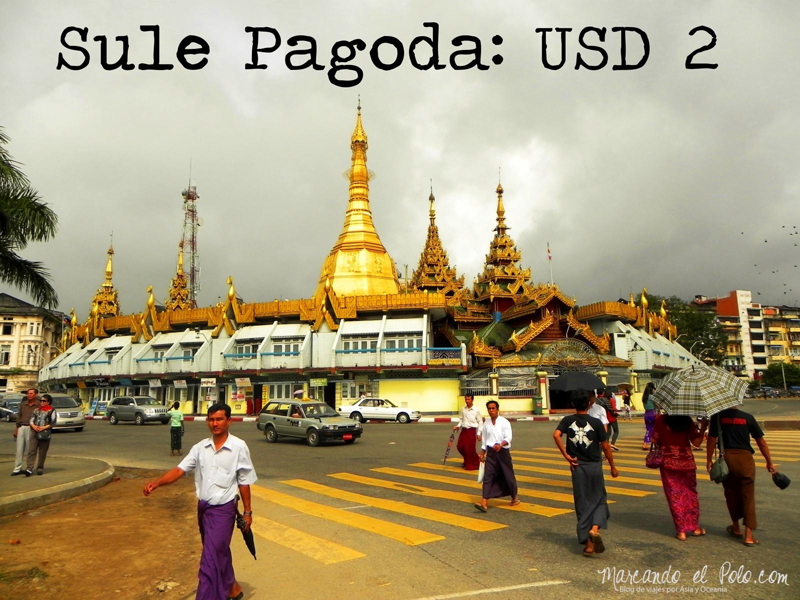 Presupuesto para viajar a Myanmar: Sule Pagoda