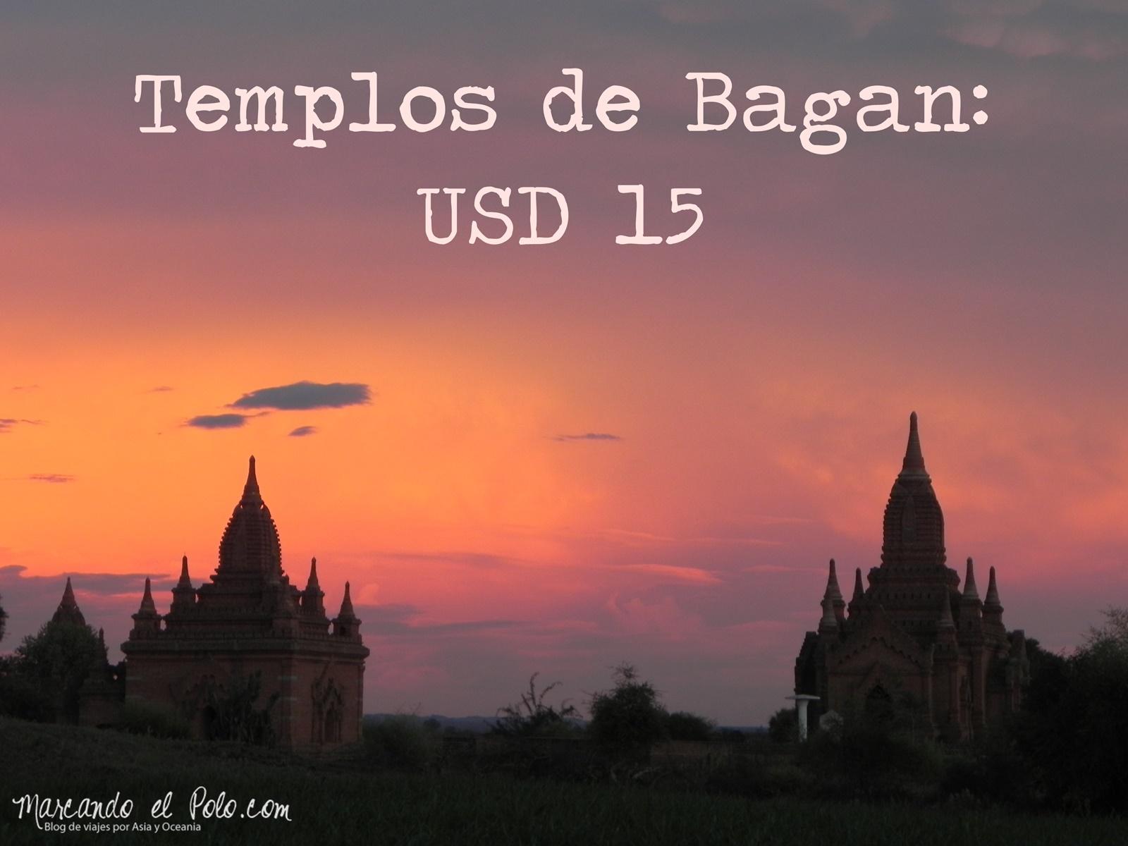 Presupuesto para viajar a Myanmar: Templos Bagan