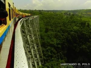Itinerario para viajar a Myanmar: tren viaducto Gokteik