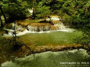 Itinerario para viajar a Tailandia: cascada Parque Nacional Erawan