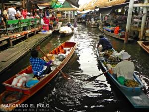 Itinerario para viajar a Tailandia: Talingchan floating market, Bangkok