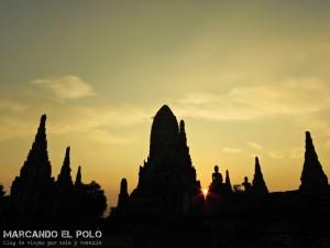 Itinerario para viajar a Tailandia: Wat Chaiwattanaram