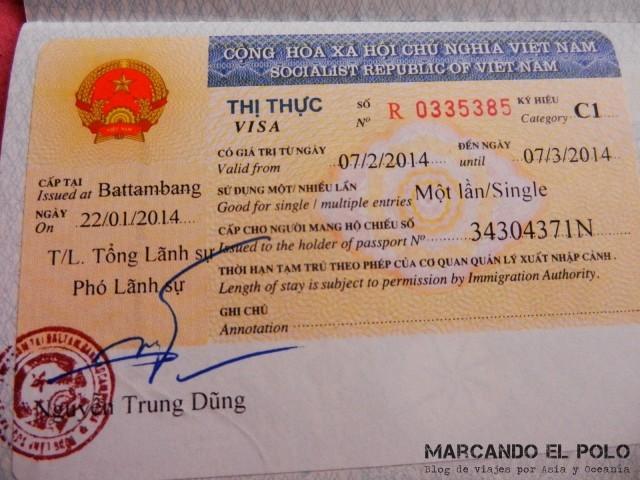 Viajar al Sudeste asiatico - Visa de Vietnam