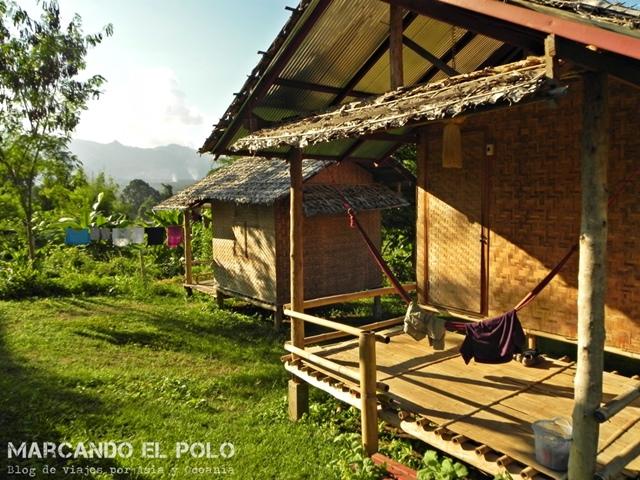 Viajar a Tailandia - Alojamiento KK Hut, Pai