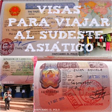 Visas para viajar al sudeste asiatico