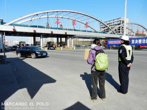 Viajar a dedo China: camino a Beijing