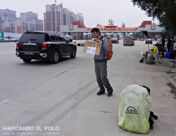 Viajar a dedo China: camino a Guilin